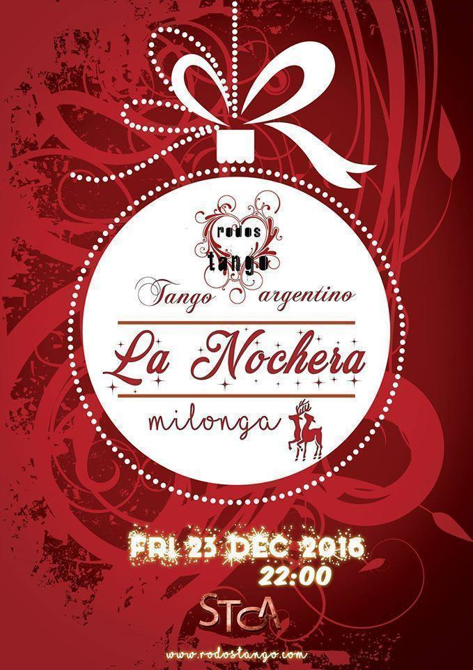 "ღ RodosTango- Milonga ""La Nochera"" Christmas Edition 23.12.2016"