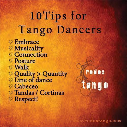 Top 10 Tips for Tango Dancers